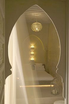 A room at the Riad AnaYela in Marrakech