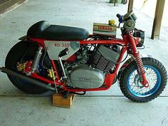 Mini RD350 - Wow, in the world of wacky ideas, this is right up there. I'd still want to ride it though.