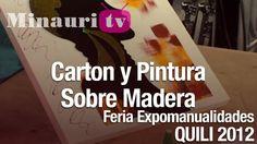 DIY - Pintura Sobre Madera Cartón -  Painting On Wood Cardboard