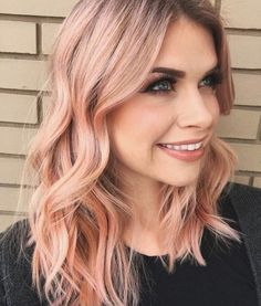 50 bold and subtle ways to wear pastel pink hair - Beliebt Frisuren - . 50 bold and subtl Blorange Hair, Hair Day, New Hair, Pink Blonde Hair, Pastel Pink Hair, Blonde To Rose Gold, Peachy Pink Hair, Rose Pink Hair, Peach Hair Colors