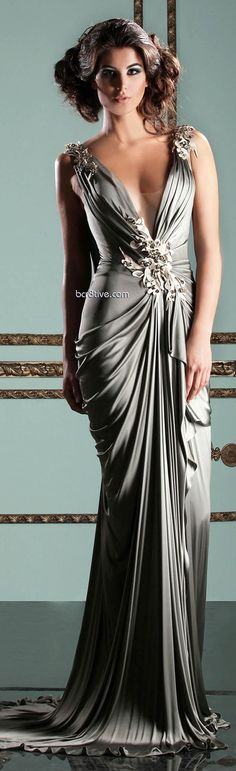Mireille Dagher Spring Summer 2013 Ready to Wear. This is my favorite party dress color!
