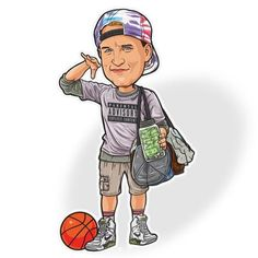"""Billy Hoyle from White Men Can't Jump Sticker - """"I'm In The Zone"""" Movie Caricature Series - Basketba"""