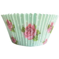 Vintage Rose Cupcake Cases