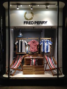 Fred Perry x Southsea Deckchairs windows by Studio XAG