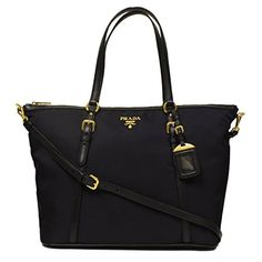 3098bf9297cb0 Prada Tessuto Saffian Nylon and Leather Shopping Tote Bag BR4253