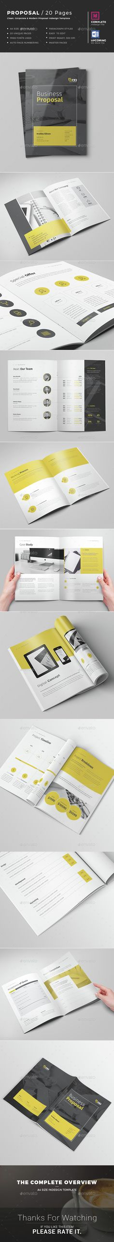 Proposal Template Project Proposal InDesign Template v2