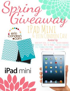 One lucky winner will receive an iPad Mini and Erin Condren Case sponsored by The Creative Circle and Erin Condren!