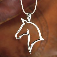 Openwork Horse Head Necklace 18in Snake Chain #jewelrynecklaces