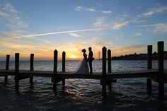 Casa Marina Waldor Astoria wedding venue, Destination wedding in Key West, Tropical wedding, bride and groom, sunset wedding photos, weddings by romi, romi burianova, sunset phot at casa marina key west,