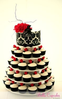 cupcake wedding cake by TinyCarmen