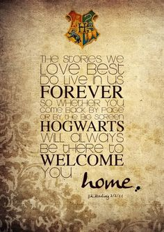 I can remember the first time I picked up a Potter book while volunteering at the library. It was love at first read.