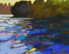 "Casey Klahn, artist ""Lazy River"", pastel"