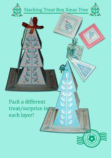 The Papercraft Post: Three-Tiered Xmas Tree Treat Box