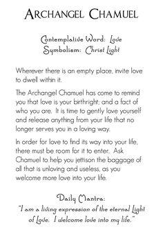 Archangel Chamuel | back | Mystic Angels Oracle 16