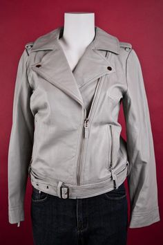 Rachel Zoe Leather Motorcycle Jacket