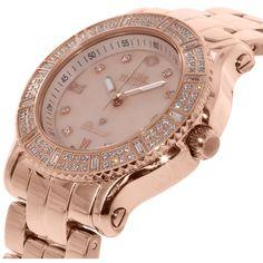 77df6f6e3e86 Swiss Precimax Women s Tribeca Diamond SP13328 Rose Gold Stainless-Steel  Plated Parts Quartz Dress Watch