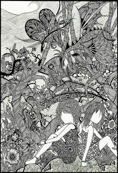 Line - Maahy  Art Print