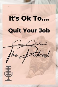 If you're worried about a two week notice or what other people think of you when you quit your job. Staaahp! It's ok to quit your job, especially if it's a toxic job with a bad boss. Listen to this podcast for a whole new perspective on your bad job.