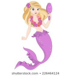 Beautiful Mermaid Her Pet Stock Vector (Royalty Free) 1437341306 Beautiful Mermaid, Princess Peach, Disney Princess, Pet O, Royalty Free Stock Photos, Disney Characters, Drawings, Illustration, Artist