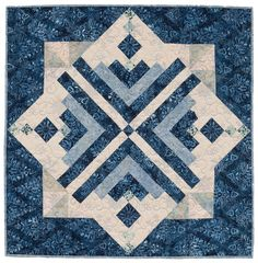 Ice Crystals Log Cabin quilt