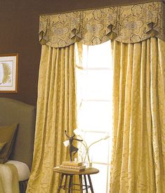 Drapery Ideas | shown over floor length draperies that drape the floor. The draperies ...