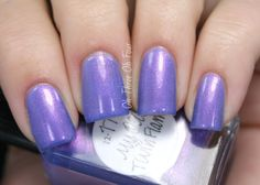 My Old Twin Flame is rich periwinkle blue with two different pink shimmers. All nails are 3 coats with top coat.