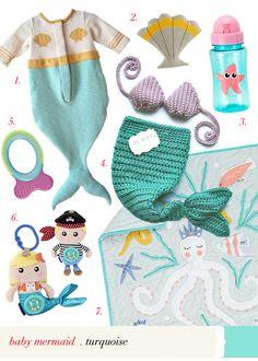 baby mermaid essential #virr #aqua #turquoise #mermaid #baby #fish #essential #ocean #nursery
