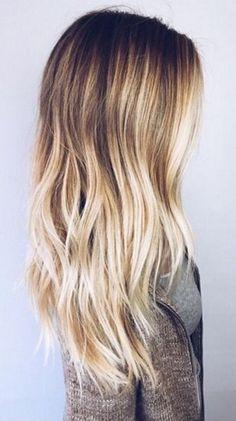 Uzun Saçlar İçin Sombre Saç Rengi Fikirleri
