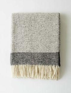Mended Tweed Throw - Charcoal Grey - Mourne Textiles