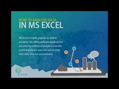 Few are aware of the tremendous ability to analyze #data by the popular spreadsheet program #MSExcel through a set of in-built tools and an add-in program.