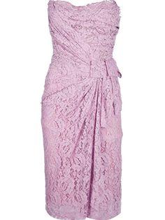 Dolce and Gabbana Strapless Asymmetric Dress