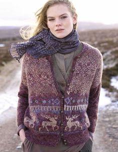 From the Rowan book Nordic Tweed Rowan Knitting, Rowan Yarn, Fair Isle Knitting, Punto Fair Isle, Motif Fair Isle, Fair Isle Pattern, Laine Rowan, Tweed, Pullover