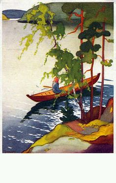 Vintage postcard by Martta Wendelin (Finnish, 1893–1996)