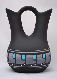 Navajo Handmade Wedding Vase Signed Decorative Pottery Vase Tribal Native American Collectible Tribe