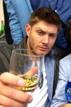 Greenroom closeup of Jensen He is so tired he will get drunk fast!