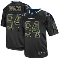 NFL Mens Elite Nike Dallas Cowboys http://#94 DeMarcus Ware Camo Fashion Black Jersey