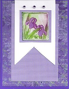 Card created by Anne Thompson. Iris rubber stamp by Repeat Impressions. - http://www.repeatimpressions.com - #repeatimpressions #rubberstamps #cardmaking