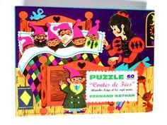 """Puzzle vintage Fernand Nathan illustré par Nina """"Blanche-Neige et les sept nains"""" 12€"""
