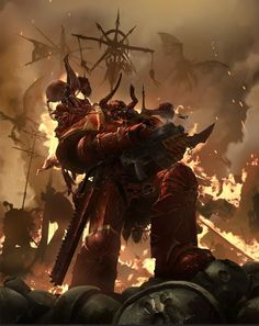 Crimson Slaughter Chaos Space Marines devastate another world.