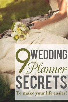 9 Wedding planner secrets to make your life easier! read more http://applebrides.com/2013/10/24/9-secrets-from-wedding-planners/ save money on wedding, frugal wedding ideas #wedding #frugal