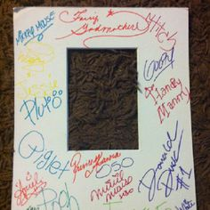 Great idea for WDW souvenir! Instead of autograph books, have characters sign a photo matt. Use it to frame your favorite pic from your trip! From http://www.disneytripexpert.com/2012/06/character-matte-alternatives-to-disney.html