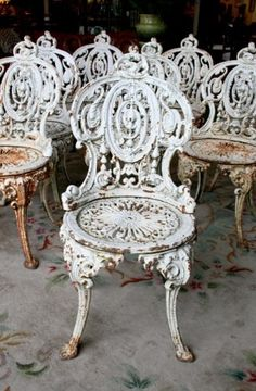 8 cast Iron Garden Chairs