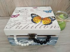 This item is unavailable Jewelry Box, Unique Jewelry, Decoupage, Decorative Boxes, My Etsy Shop, Handmade Gifts, Check, Vintage, Home Decor