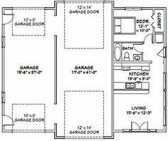 PDF house plans, garage plans, shed plans. Rv Garage Plans, Garage Plans With Loft, Garage Apartment Plans, Garage Apartments, Garage Ideas, Barn Apartment, Garage Tools, Garage Workshop, 10x10 Shed Plans