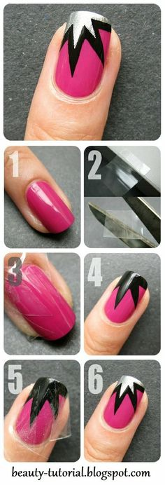 Explosion nail art tutorial