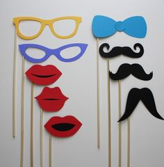 Photo booth props for engagement party