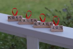 DIY personalized Scrabble tile Christmas ornaments - Great way to use old sets that may have lost some letters!