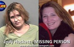 Jody Hockett Disappearance Remains Unsolved.Grande Prairie, Alberta,RCMP are continuing to look for clues that will help solve this mystery. On February 22, 2009 Jody Hockett, also known as 'Jessie', was seen getting into a small white car outside of a centrally located downtown Grande Prairie hotel. She has never been seen or heard from since then.