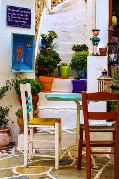 Coffee shop in Kythnos, Greece