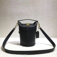e7a8e407be89 Louis Vuitton Black Calfskin Bucket Bag 2018